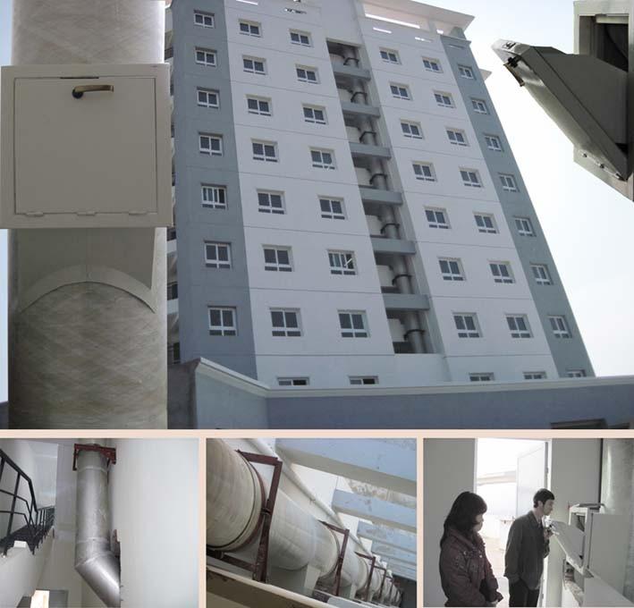 Hệ thống thu rác nhà cao tầng