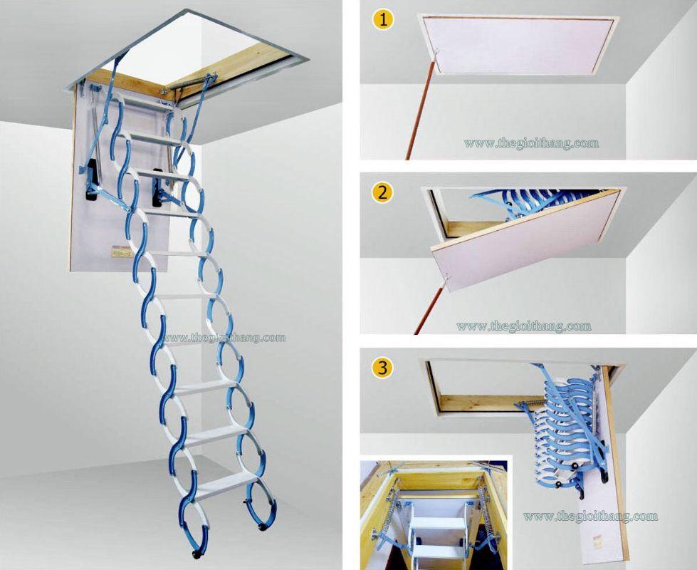 Thang lên mái (gấp thông minh) - Hàng có sẵn